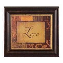 Love Vintage Framed Art Print
