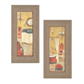 Spencer Bath Framed Art Print, Set of 2