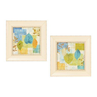 Leaf Collage Framed Art Print, Set of 2