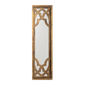 Wooden Lattice Mirror