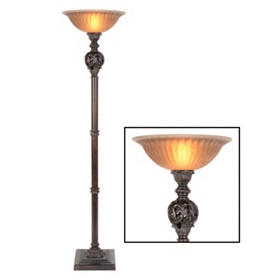 Acanthus Bronze Torchiere, 74 in.