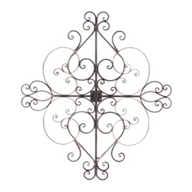 Scrolled Heart & Cross Wall Plaque