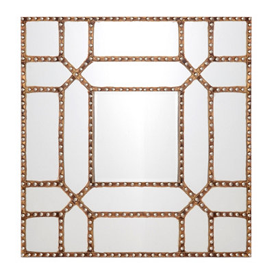 Mirrored Square Wood Wall Plaque
