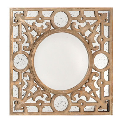 Geometric Circles Plaque Mirror