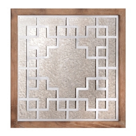 Mirrored Lines Wall Plaque