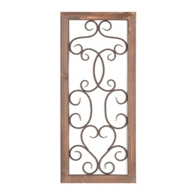 Scrolled Heart Wall Plaque
