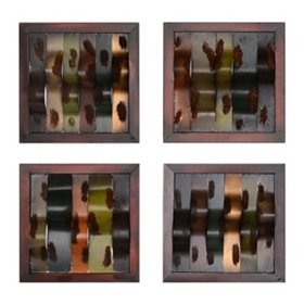 Abstract Settings Plaque, Set of 4