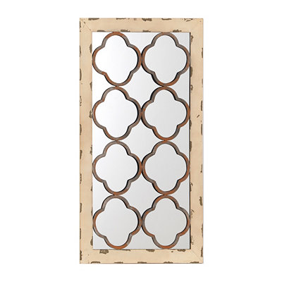 Clovers Mirrored Wall Plaque