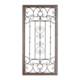Black Scrolled Gate Wall Plaque
