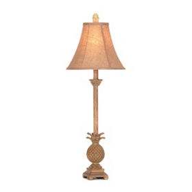 Pineapple Gold Buffet Lamp