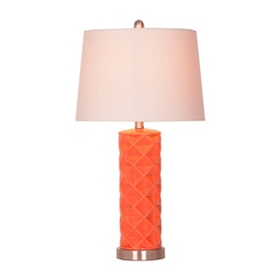 Coral Diamond Cut Table Lamp