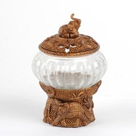 Champagne Elephant Potpourri Jar