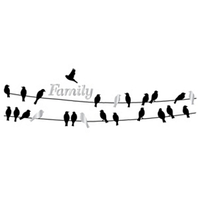 Birds On A Wire Family Wall Decal