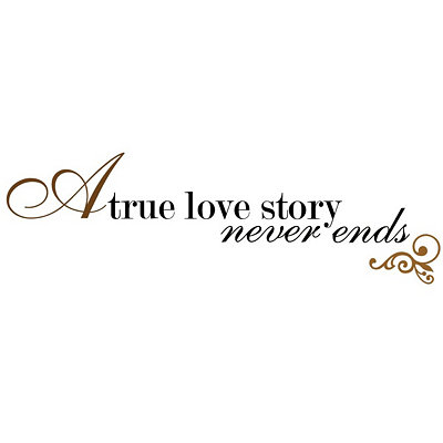 Love Never Ends Wall Decal
