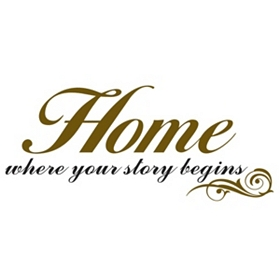 Home Brown Script Wall Decal