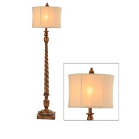 Wood Tone Floor Lamp