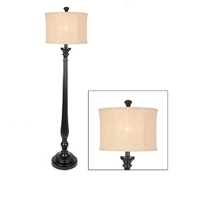 Taper Black Floor Lamp