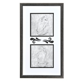 Silver Sketch Framed Art