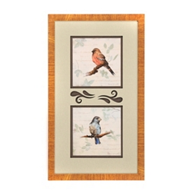 Birds on Branches Framed Art
