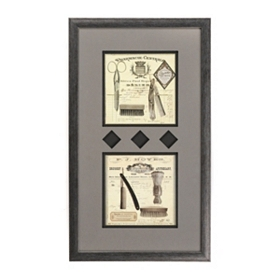 Shaving Essentials Framed Art