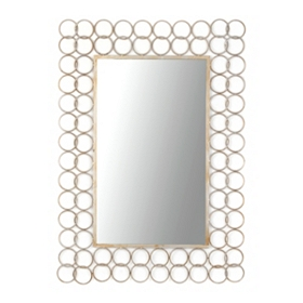 Interlocking Rings Frame Mirror, 35x49