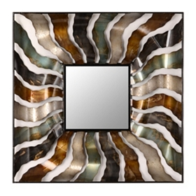Metallic Waves Mirror, 30 in.