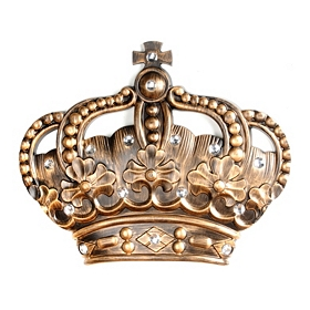 Her Crown Gold Jeweled Wall Plaque