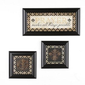 Prayer Makes All Things Framed Art, Set of 3