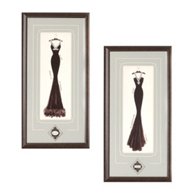 Couture Noir Framed Art Print