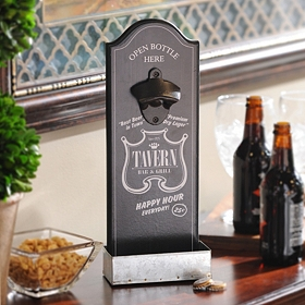 Happy Hour Bottle Opener Plaque