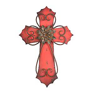 Red Veracruz Cross Plaque