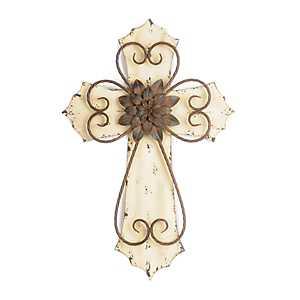Cream Veracruz Cross Plaque