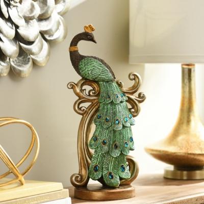 Resin Peacock Statue