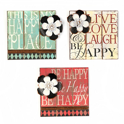 Be Happy Wall Plaques
