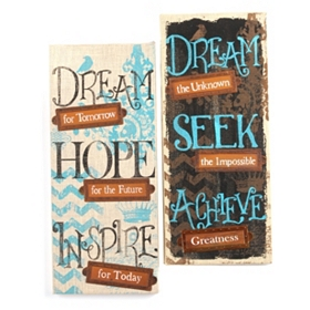 Dream Burlap Canvas Prints
