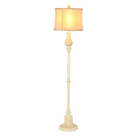 Antique Ivory Floor Lamp