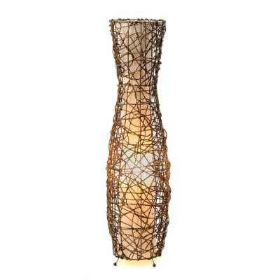 Fluted Rattan Floor Lamp