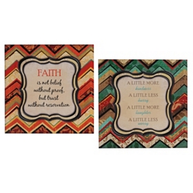 Chevron Inspiration Etched Wall Plaque