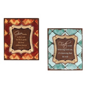 Give Thanks Etched Wall Plaques