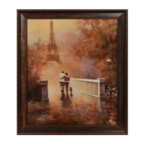 Paris Stroll Framed Art Print