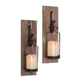 Culpepper Rustic Sconce, Set of 2