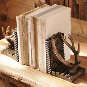 Woodland Antler Bookend, Set of 2