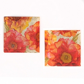 Spring Floral Beveled Canvas Art Print, Set of 2