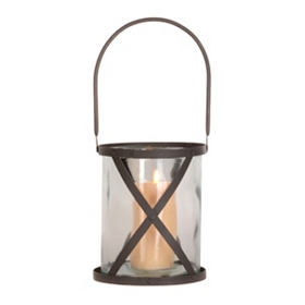 Maastricht Bronze Lattice Lantern, 9.25 in.