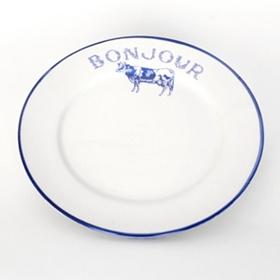 Bonjour Blue Cow Salad Plate