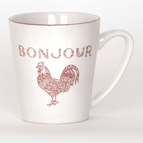 Bonjour Red Rooster Beverage Mug