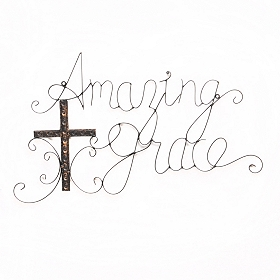 Amazing Grace Metal Wall Plaque
