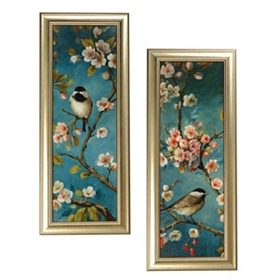 Blossoms & Birds Framed Art Print