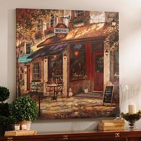 Watson's Café Canvas Art Print