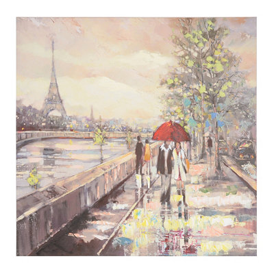 Parisian Cityscape Canvas Art Print